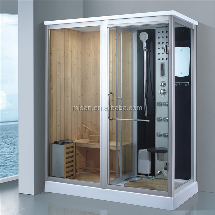 2017 HOT Factory directly sale Sauna Rooms Type and solid Wood Main Material steam shower room with sauna