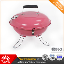Mini Multi Colour Charcoal Kettle Portable Barbecue Grill With Folding Legs