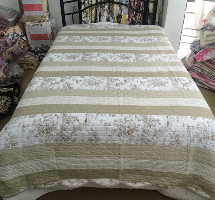 printed ultrasonic quilt cyprus hotsale bedspread polyester pinsonic quilt