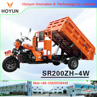Haojin Dayun Zongshen Lifan SR200ZH-4W new version self-dumping cargo Tricycle