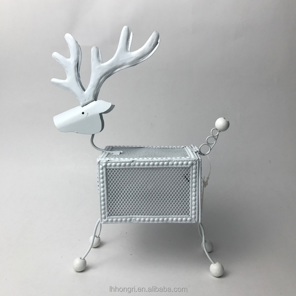2018 new arrivals Xmas decorative iron standing deer with lamp