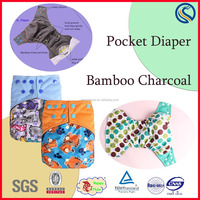Happy flute 2016 baby cloth diaper pocket diaper soft breath absorption cloth nappies