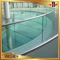 Designer latest tempered glass balcony panels