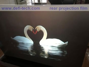 DEFI White self adhesive clear rear projection screen foil