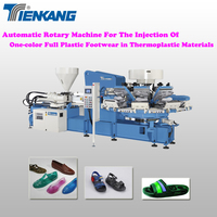 Automatic Rotary Machine For The Injection Of One-color Full Plastic Footwear In Thermoplastic Materials