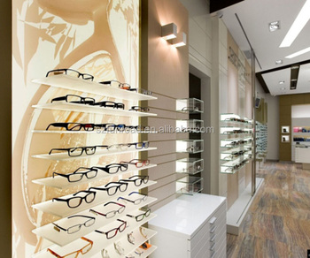 Customized Eyeglass Display Cabinet Show Counter For Optical Shop Decoration