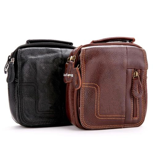 Vintage genuine Leather Satchel Laptop Messenger Bag for Men