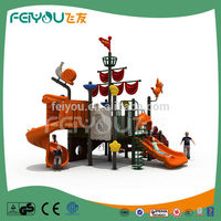 FEIYOU Pirate Ship Interactive Games Outdoor Playground Play System For Preschool