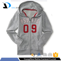 Daijun oem 100% cotton wholesale best price with your own logo design zipper long sleeve kid hoody