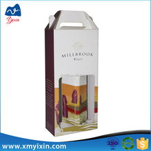 China supplier new design wine paper box,clear wine glass packing box