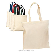 Felt white polyester tote jute burlap shopping bag