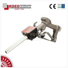 electronic manual fuel diesel filling trigger nozzle with digital flowmeter