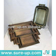 Arab copper antique brass metal serving tray