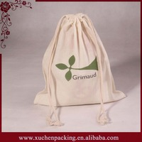 Wholesale printed cotton canvas drawstring laundry bag