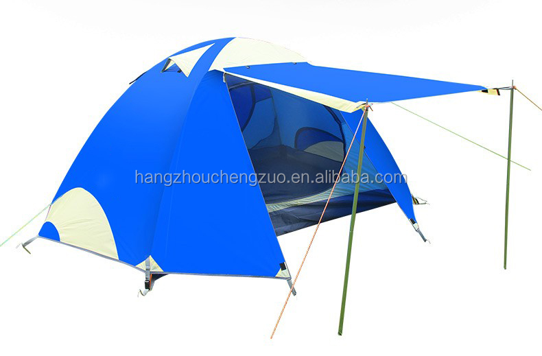 Hot Sale 2-3 Person Double Layer Aluminum Rod Waterproof Camping Tent, CZH-0007,2 Person Outdoor Mountain Tent