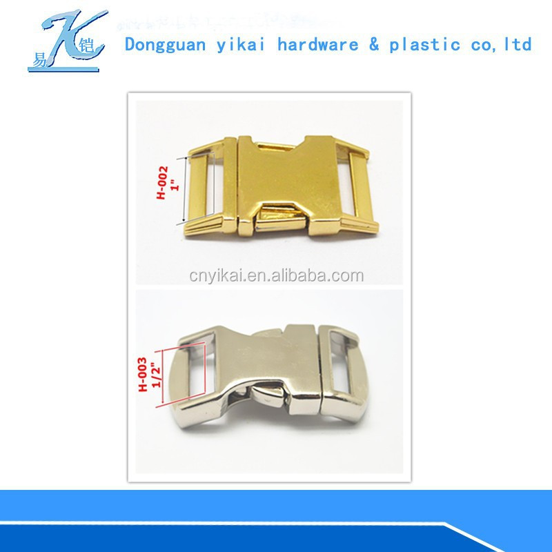 "YIKAI 1/2"" Metal Quick Side Release Buckle /metal clasp for bag accessories /metal side release buckle"