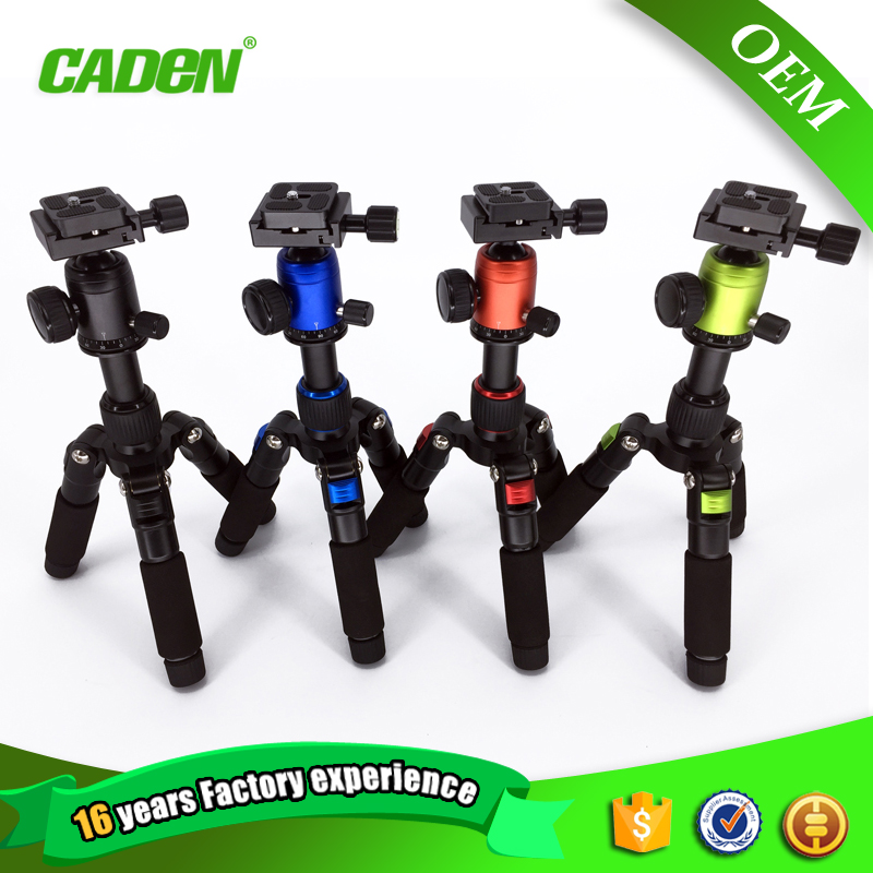 Caden factory clearance sale multicolor extension-type mini small tabletop tripod for dslr camera