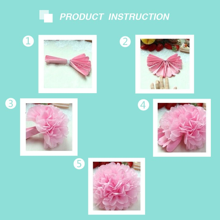 Cheap Price Tissue Paper Pompom for Wedding decoration