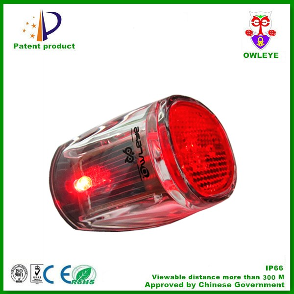 solar bicycle flash light with LED and reflector hot sale in Europe market