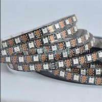 1m/4m/5m WS2812B Smart led pixel flexible strip,Black/White PCB,30/60/144 leds/m WS2812 IC;WS2812B/M