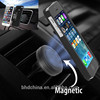 Air Vent Magnetic Car Mount Holder Suit with 2 Metal Plates for Universal Cell Phone Tablet and GPS Device