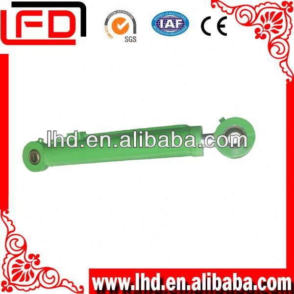 Adjustable stroke hydraulic excavator cylinder for punching
