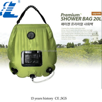 Outdoor beach solar shower with mash pocket 2015 hot sales apple green