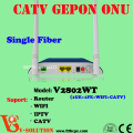 Best Price CATV EPON ONU FTTH Terminal Modem Networking GEPON ONT Support Router, IPTV ,CATV , WIFI