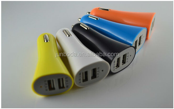 hot 2.1A dual usb port car charger for samsung iphone