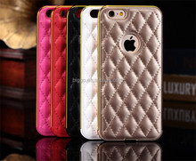 2015 Factory Supplier PU Leaher Bumper Case For Iphone 6 6 Plus