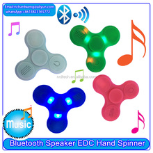 High quality LED Light Switch bluetooth Speaker Music Fidget Spinner EDC Hand Spinner / Bluetooth audio