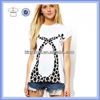 OEM woman clothes, O Neck Short sleeve Womens Clothing manufacturer overseas, women t shirt