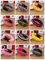16 styles wholesale paracord survival bracelets for emergency