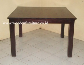 Indonesia Teak Indoor Furniture Solid Teak Wood Table Minimalist - Indonesian teak dining table