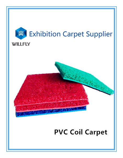 Excellent quality newPVC coil and polyester dustproof waterproof anti-slip rug/carpet