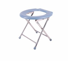 Simple Folding Movable Commode Chair with Toilet Seat Bath Chair Stool for Pregnant Women Old Man and Disabled People