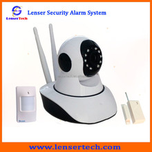 Intelligent Security Dome Camera IP alarm / Video WIFI network Home Burglar Alarm System