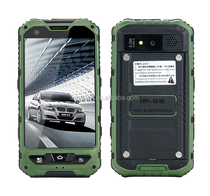 Factory Cheap Mobile NFC Phone New Rugged Phone 8GB Rom IP68 Quad Core MTK6582 GPS 4 Inch Waterproof Mobile