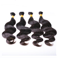 Single Drawn Brazilian Virgin Remy Human Hair Bulk