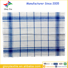 China factory wholesale linen and cotton yarn dyed checked tea towels kitchen towels
