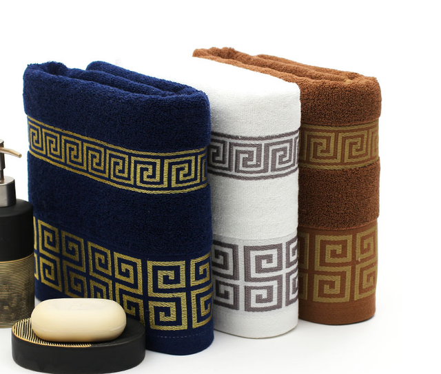 China style 100% microcotton egyption cotton dobby woven yarn dyed face towel