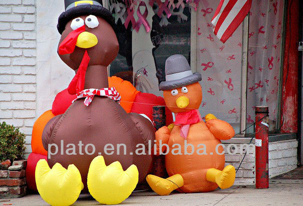 Inflatable turkey for advertising