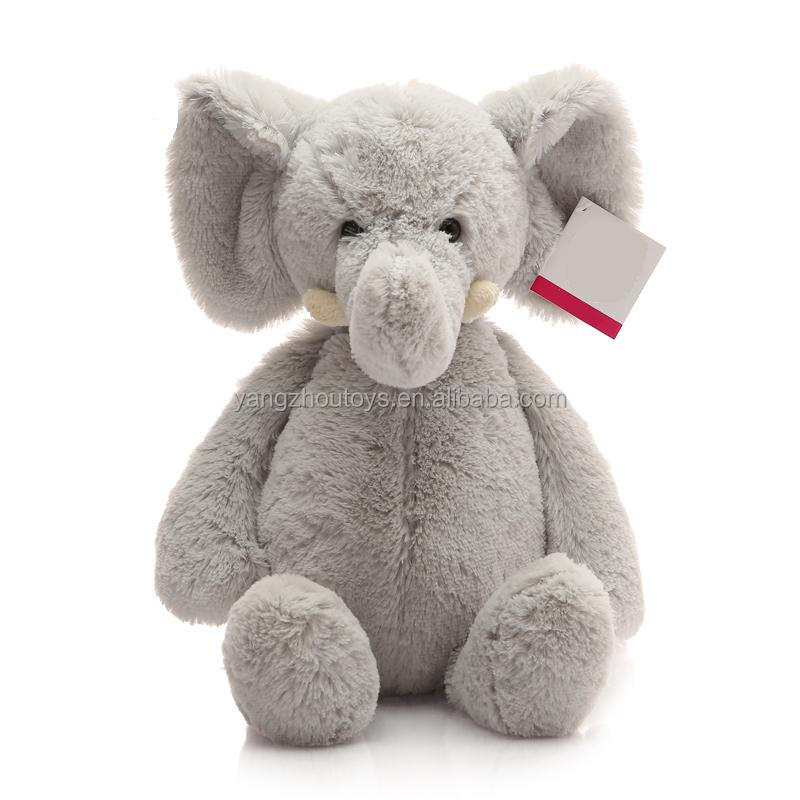 2016 good quality elephant plush and stuffed toys with big ears