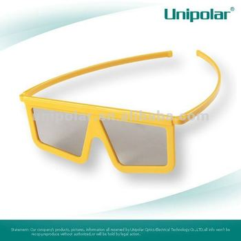 Plastic Linear Polarized 3d glass