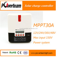 30A 12/24/36/48V auto Maximun power point tracking charge controller solar panel regulator