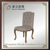 French dining chairs acrylic dining chairs soft fabric button tuffted leisure banquet chair