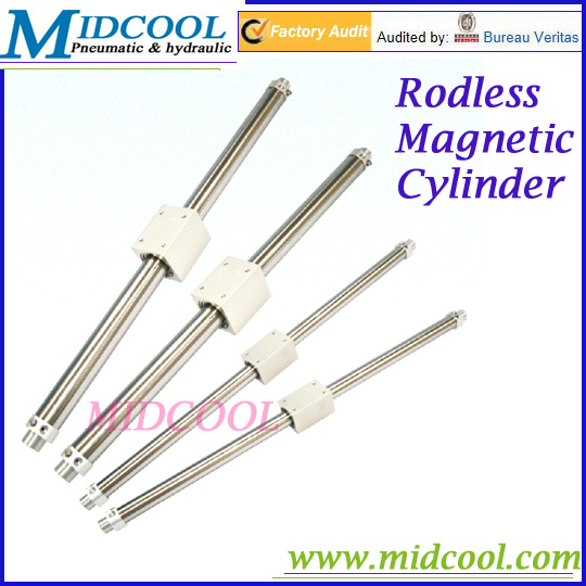 Magnetic rodless air cylinder RMS series double acting type pneumatic cylinder AirTAC type