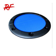 Round Folding Poker Table Top With Plastic Cup Holders