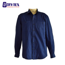 Wholesale Button Down Shirts Men Cotton Slim Fit Men Casual Navy/Dark Blue Dress Shirt