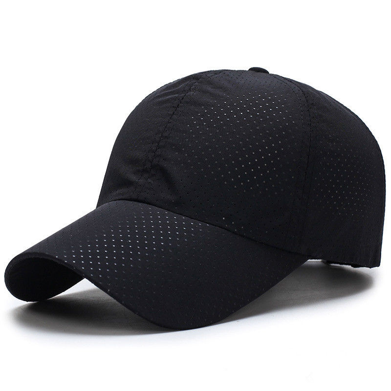 The crown whole holes fabric baseball cap soft breathable sports cap